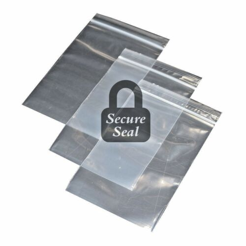 """1-10002x12 Reclosable Resealable Clear Zip Lock Plastic Bags 2Mil 2/""""x12/"""" in"""
