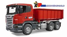 BRUDER 03522 -  Scania R-Series camion container ribaltabile