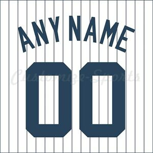 8c5bd51f Details about Baseball New York Yankees White Home Jersey Customized Number  Kit un-stitched