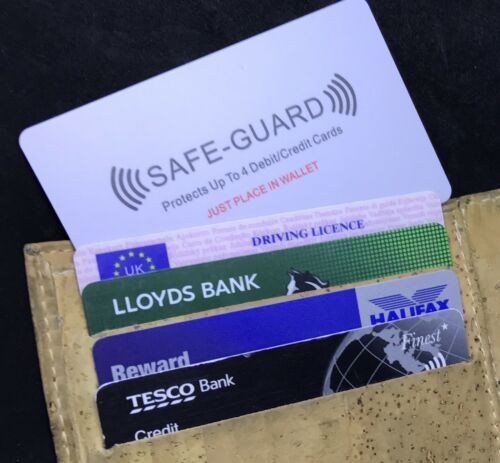 5x Safe Guard®️RFID Credit//Debit Card Wireless Illegal Blocker 5 Cards Included