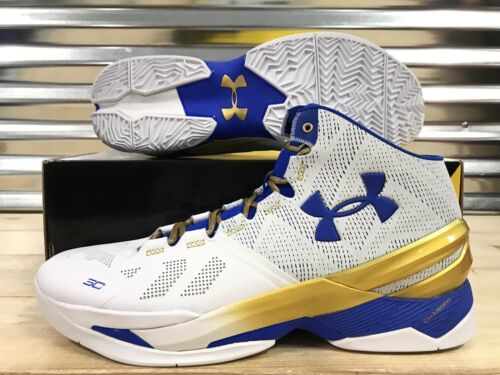 Under Armour Curry 2 Gold Rings Finals GS Warriors Gold SZ 16 1259007-107
