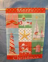 Christmas On The Beach Sun Tanning Santa Claus Garden Yard Flag 12.5 X 18