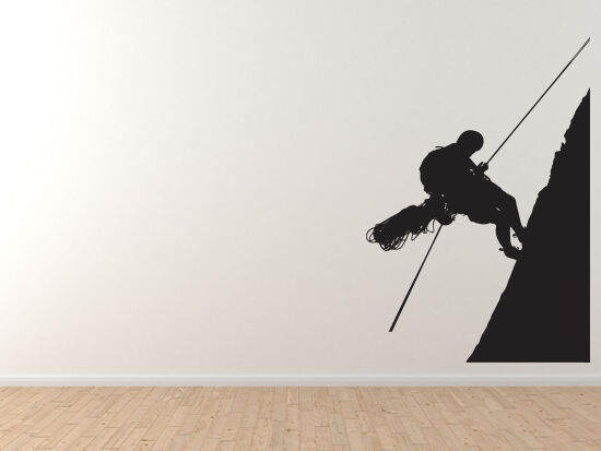 Mountain Climbers  8 - Rope Climbing Ascent Altitude  - Vinyl Wall Decal