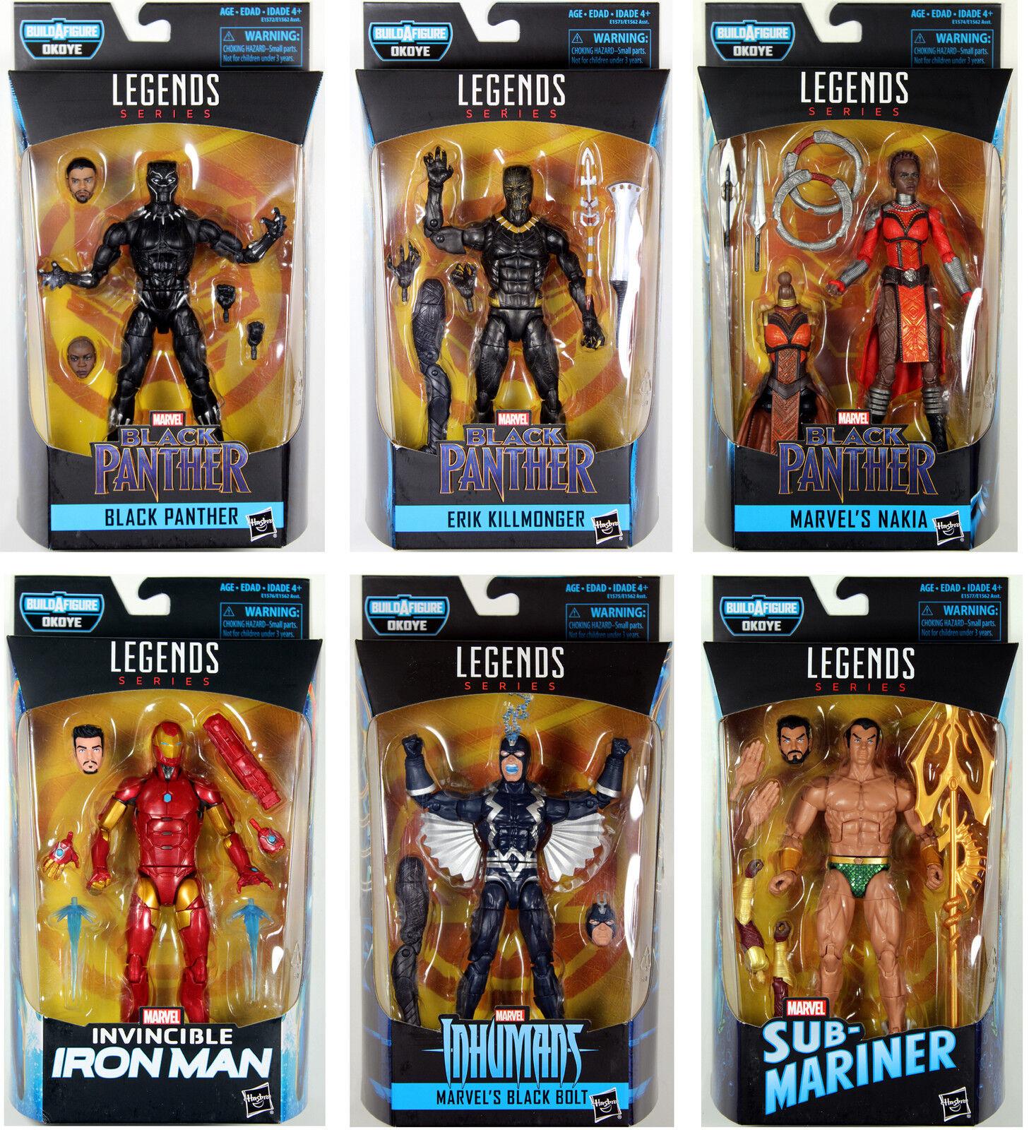 marcas en línea venta barata Marvel Leyendas    Negro Panther Set con Okoye Baf  Killmonger, Perno Negro  de moda