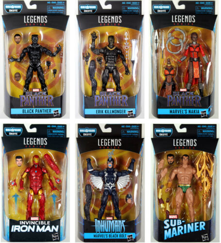 Marvel Legends ~ BLACK PANTHER SET w//OKOYE BAF ~ Killmonger Black Bolt++++