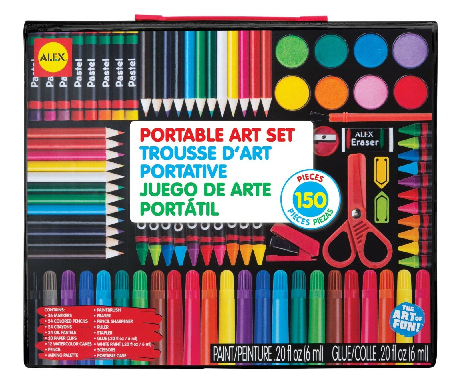 Kids Artist Studio Art Set Portable 150 Pc Draw color Paint Gift Boy Girl New