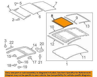TOYOTA Genuine 63251-47010 Roof Weatherstrip