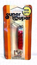 Luhr-Jensen Vintage Super Duper Chrome/ Red Size 509  3/8 oz