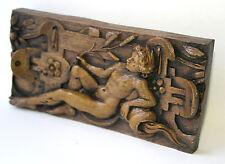 Medieval Church Pew Carving Ornament Plaque Unique Gift