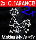 TWO FOR ONE! MAKING MY STICK FIGURE FAMILY Your funny car makin window stickers