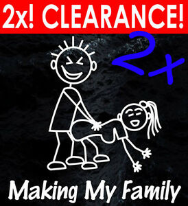 TWO-FOR-ONE-MAKING-MY-STICK-FIGURE-FAMILY-Your-funny-car-makin-window-stickers