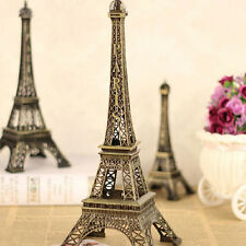 1*Mini Eiffel Tower Decor Figurine Accent Bronze Paris French Metal Statue 10CM