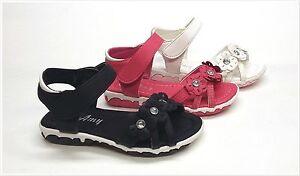 Brand New Infant/Toddler Girls Cutie Sandal Size 3 ~ 8 Black, White & Fuchsia
