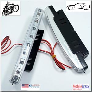 2pcs-Motorcycle-Car-100-lm-8-LED-Daytime-Running-Lights