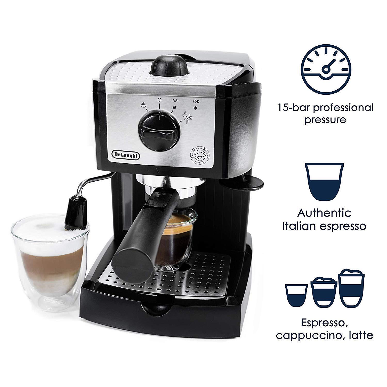 DeLonghi 15 BAR Pump Espresso Cappuccino Maker Latte Frougeher Self Priming Pods