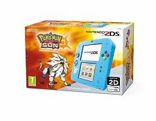 Light Blue Pokemon Sun Pre-Installed - Nintendo 2DS - Brand New & Sealed