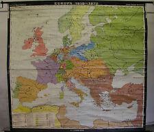 Schulwandkarte Wandkarte Rollkarte Karte map Europa Europe 1815-1870 201x188cm