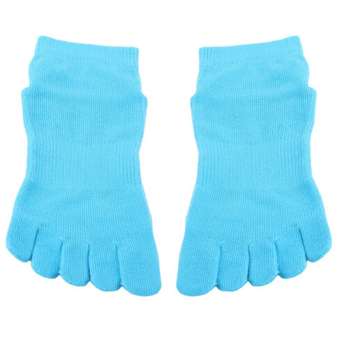 Details about  /Cotton Half Five Fingers Toe Yoga Socks Anti-Slip Pilates Quick Dry Sockes G