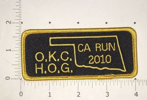 Harley Owners Group Oklahoma City Hog Chapter 2010 California Run Patch
