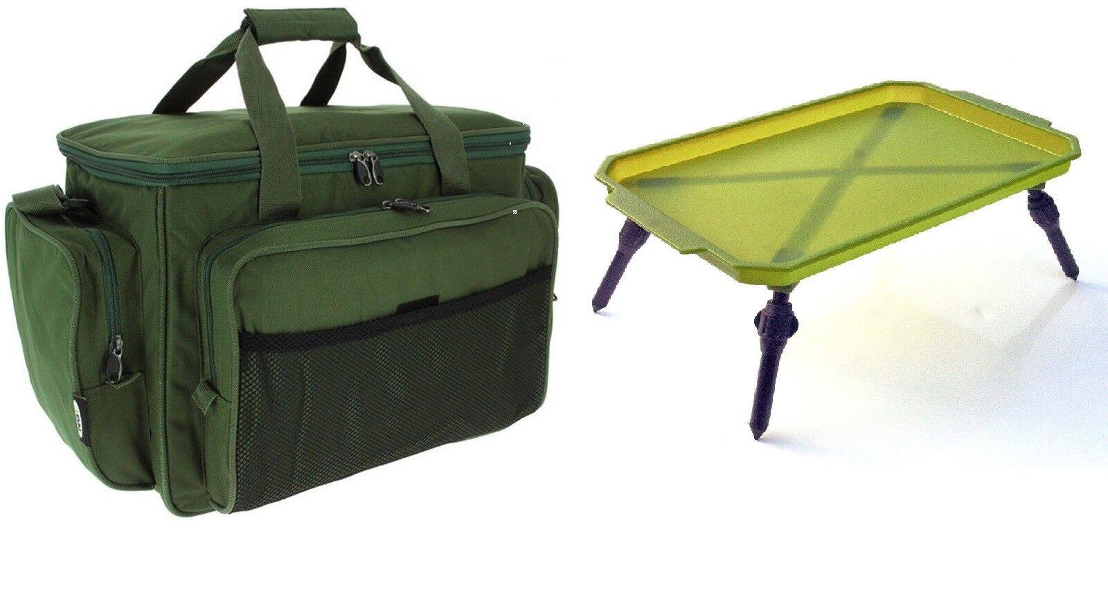 NGT Carp  Coarse Fishing 709 Carryall & Lightweight Folding Bivvy Table GREEN