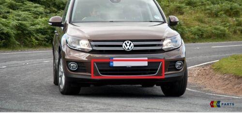 NEW Genuine VW Tiguan 12-16 Front Center Lower Grill Noir Chrome 5N0853671B 82 V