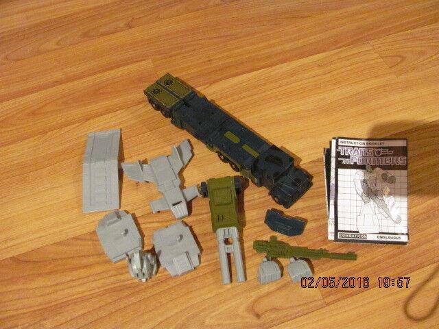 Ansturm bruticus  100% komplett vintage - g1 transformers - actionfigur 1986