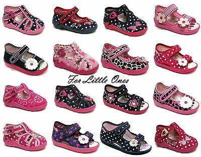 Girls canvas shoes slippers trainers