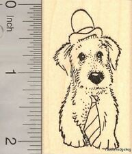 Ferret in Prisoner Costume Rubber Stamp H14115 WM Halloween small pet cute