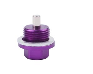 PURPLE M18 x 1.5 Aluminium Magnetic Oil Drain Sump Plug  Nut Screw With Washer