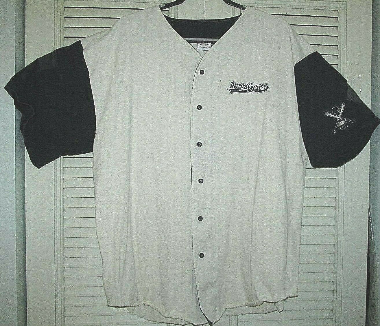 Abbott and Costello Who's On First Jersey Men's XXL Button Down Front Pre-owned