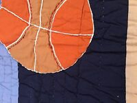 All Star Basketball Sports Quilted Blue Standard Pillow Sham Company Kids