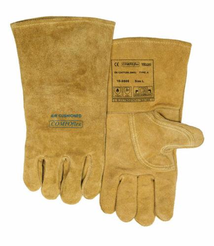 Size Premium Quality Split Leather WELDAS Wide Body Welding Gloves S L XL XXL