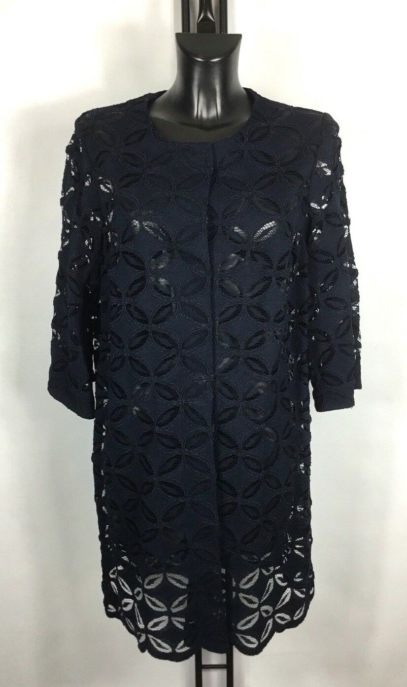 D.EXTERIOR NAVY LACE COAT SIZE 14