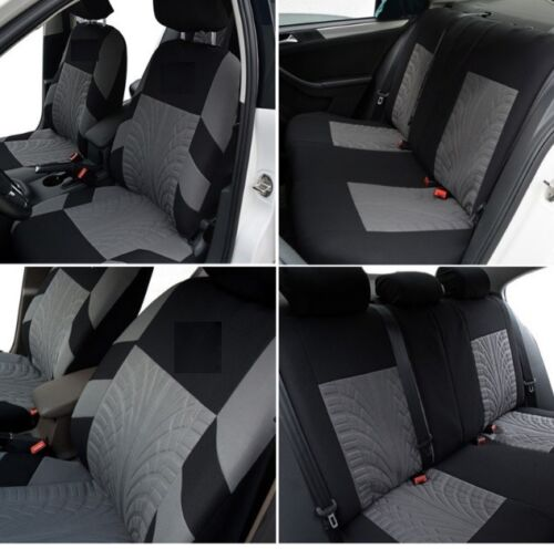 FULL SET GREY FABRIC CAR SEAT COVERS FOR FORD FIESTA FOCUS MONDEO FUSION KA