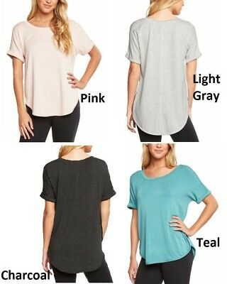 NWT  Matty M Women/'s Short Sleeve Rolled Cuff Tunic Top
