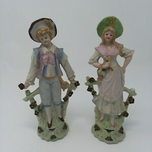 Vintage Normally China Hand Painted Figurines From Occupied Japan Ebay