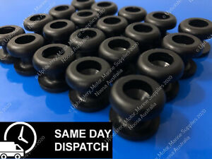 30 PK BLACK ROPE / BUNJI BUTTONS - UTE BUNGEE KNOBS, BOAT, BUNGEE-TRADE QUALITY