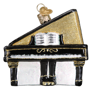 Old-World-Christmas-BABY-GRAND-PIANO-38050-N-Glass-Ornament-w-OWC-Box