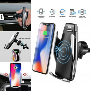 Automatic-Clamping-Wireless-Car-Charger-Charging-Mount-Bracket-For-iphone-Huawei