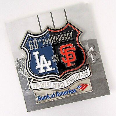 Sport Fanartikel Humor La Dodgers Sf Giants Westküste Baseball Rivalry 60th Jubiläum Pin-flagge Schmelz Einen Einzigartigen Nationalen Stil Haben