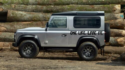 Camel Trophy Land Rover Pegatinas 2 X one life live it Divertido 4x4 Off Road