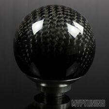 JDM Real Carbon Fiber Ball Shaped Manual Shift Knob M8/M10/M12 Threaded Shifter