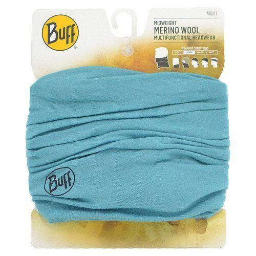 Buff Midweight Merino Wool Multifunctional Headwear, Turquoise