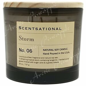 Scentsational-Natural-Soy-Candle-26oz-Triple-Wick-Wood-Lid-No-6-STORM