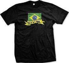 Brazil T-Shirt Brazilian Bandeira do Flag Mens Independence Day Football Ripped