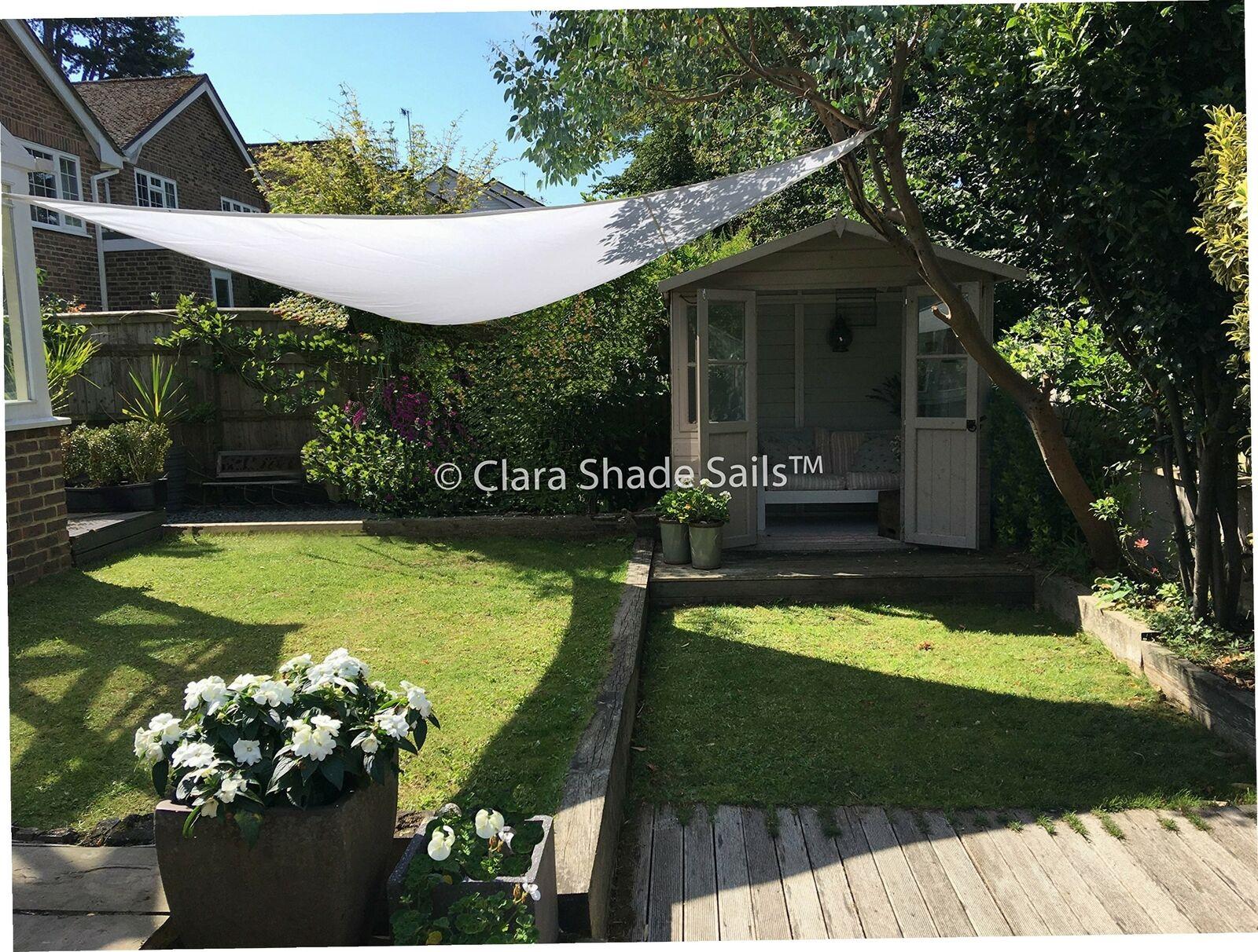 Clara Sonnensegel, hochwertig, 95% UV-Schutz, wasserfest, Reinweiß,...