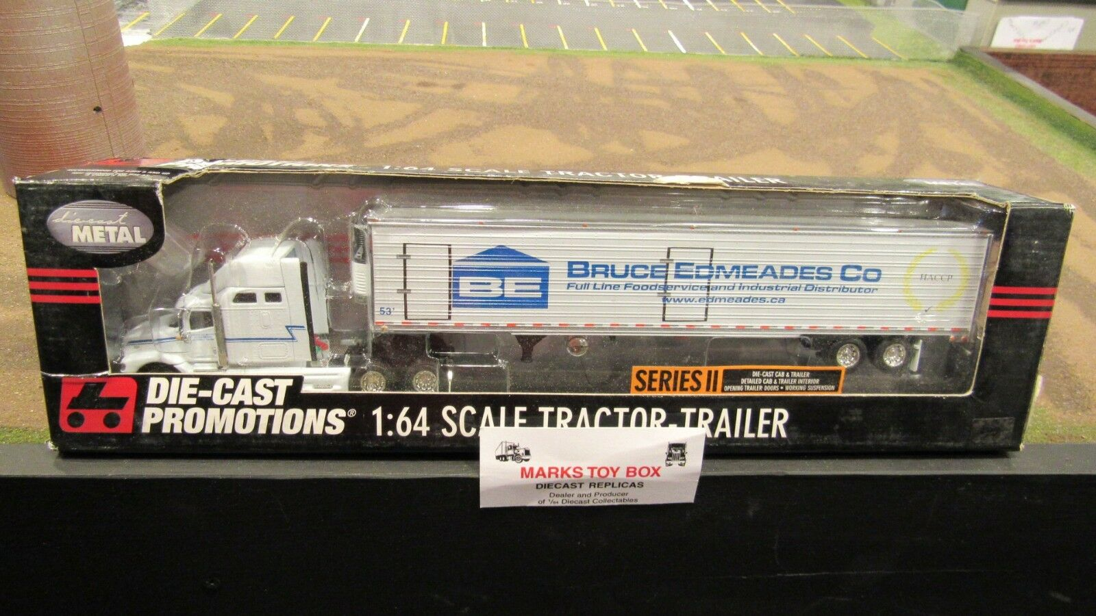 DCPB Bruce edmeades Co ih 9400 Semi CAB camioneta Reefer Van Trailer 1 64 FC