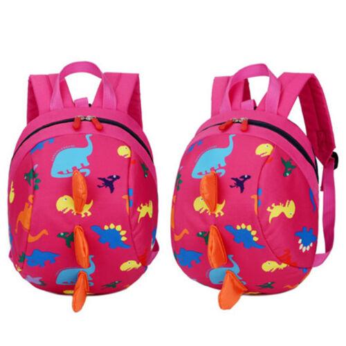 Toddler Backpack Anti-lost Band Kids Children Bag Dinosaur Cartoon School Bag
