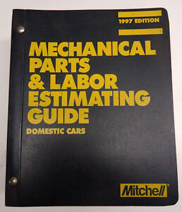 1997-Mitchell-Mechanical-Parts-amp-Labor-Guide-Manual-Book-Domestic-Cars