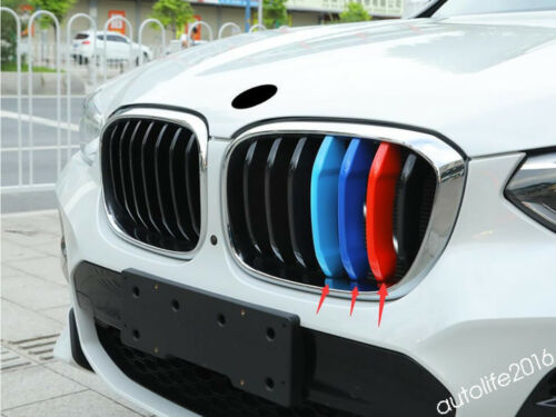 Front Head Grille Grill Insert Cover Kit For BMW X3 G01 2018 2019 Accessories